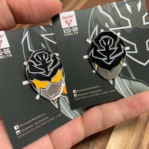 KSG-06 + KSG-GM GokaiSilver 2 Pack - Soft Enamel Collectible Pins