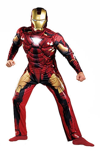 Adult Deluxe Mark 6 Iron Man Costume