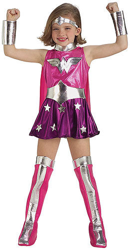 Girls Pink Wonder Woman Costume
