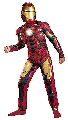 Boys Mark 6 Iron Man Light Up Costume
