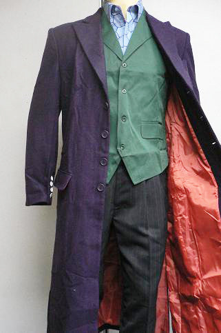 Authentic TDK Joker Purple Wool Trenchcoat
