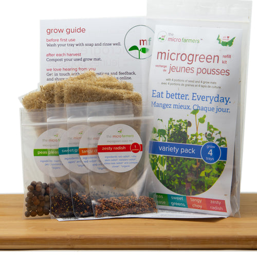 Variety Pack Microgreen Grow Kit (Refill Kit)