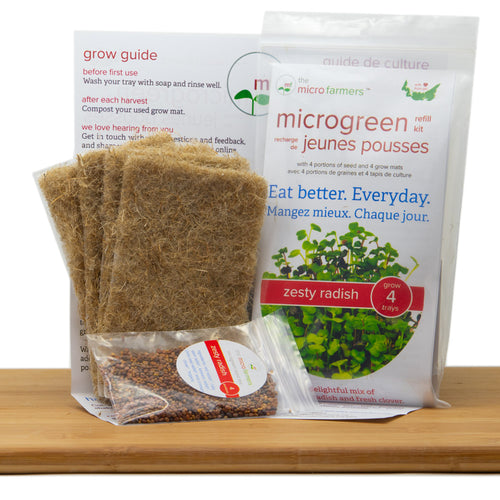 Zesty Radish Microgreen Grow Kit (Refill Kit)