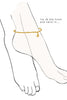 Gold Anklet Bangle