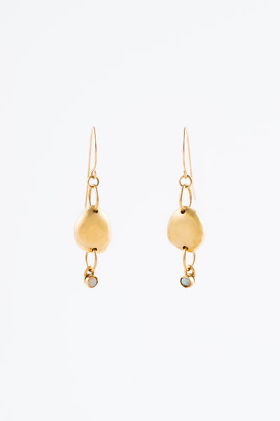 Mini Gold Rock & Stone Earrings