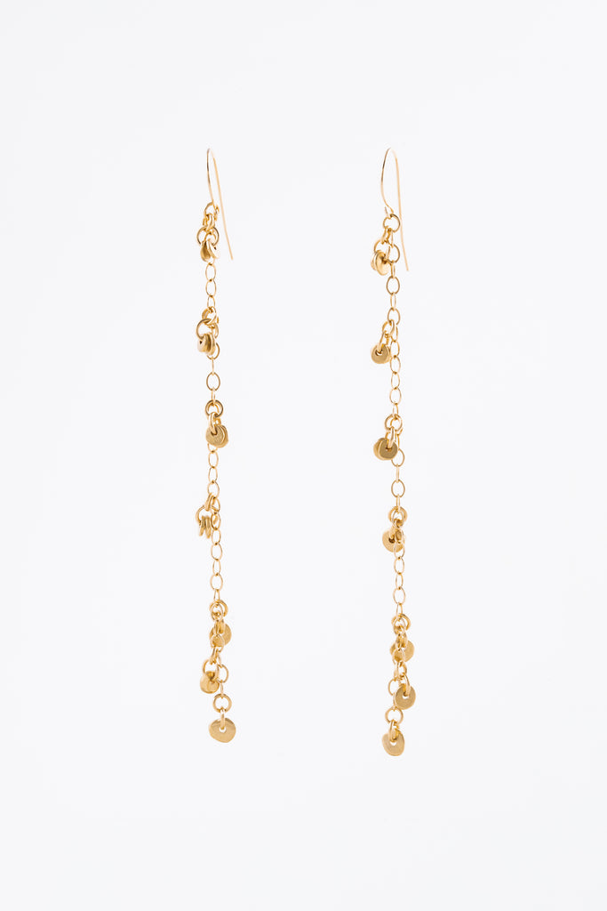 Gold Coco Chain Earrings