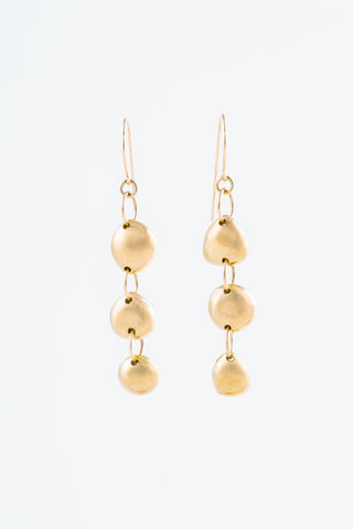 Related product : Gold Three Tier Rock Earrings