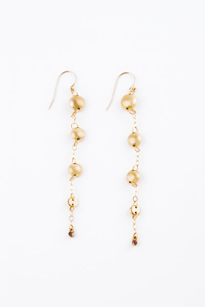 Gold Washed Away Rock Earrings
