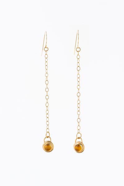 Gold Gregorian Chain Earrings