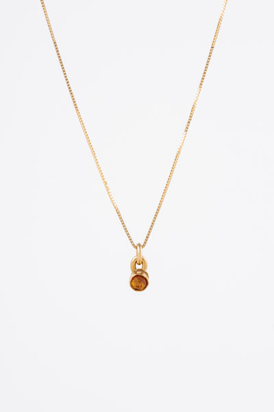 Mini Gold Stone Necklace