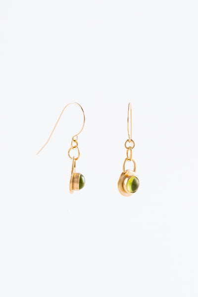 Gold Gregorian Stone Earrings