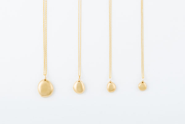 Gold Single Rock Necklace