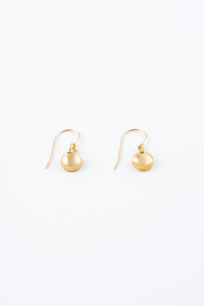 Mini Gold Rock Earrings