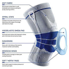 Nylon Silicon Knee Sleeve - The best sports protection for your knees