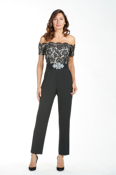 Frank Lyman Jumpsuit with Belt