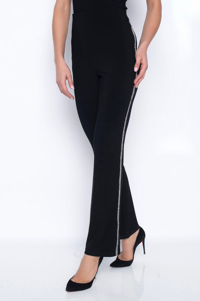 Frank Lyman Trouser with Diamante Side Strip Detail