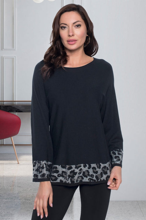 Frank Lyman Jumper with Animal Trim