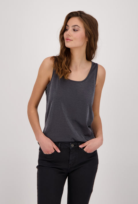Monari Jersey Vest Top with Gloss Effect