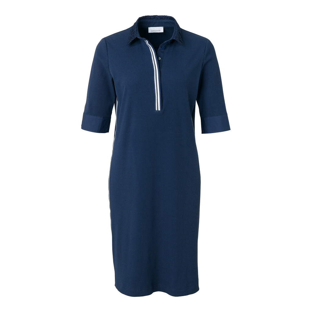 Just White Navy Polo Dress