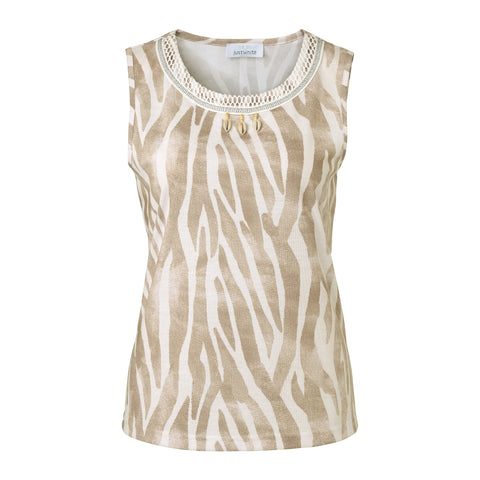 Just White Muted Animal Vest