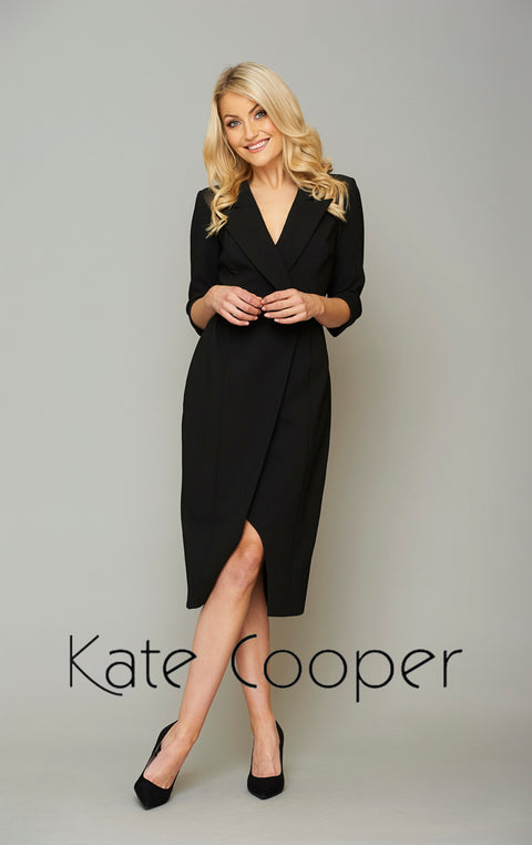 Kate Cooper Black Tux Style Dress