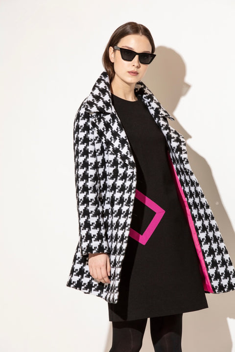 Kate Cooper Houndstooth Coat