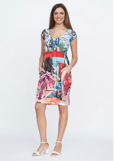 Eroke Multi Colour Dress with Pockets
