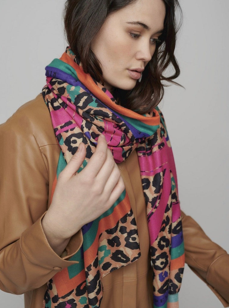 Rino & Pelle Multi Colour Animal Scarf