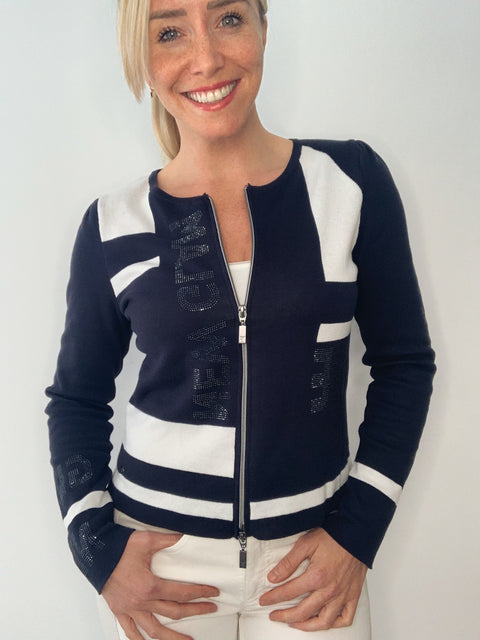 Monari Light Weight Cardigan with Shoulder Pads