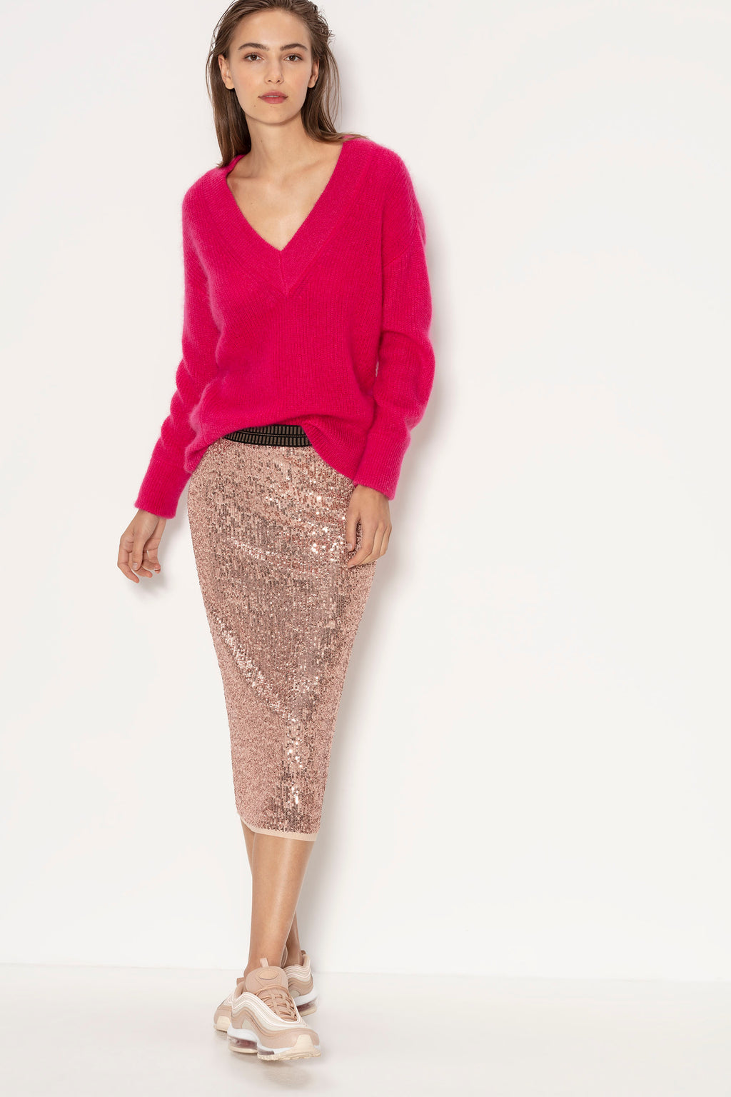 Luisa Cerano Sequin Skirt