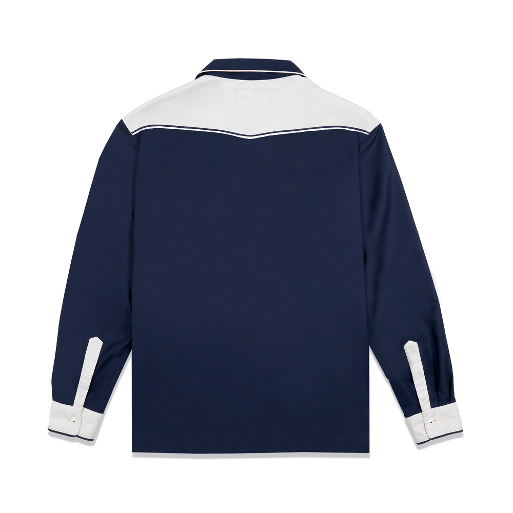 Load image into Gallery viewer, LONGMA NAVY BLUE - LONGSLEEVE SHIRT