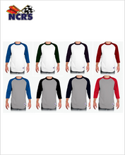 NCRS Tagless Champion 3/4 sleeve Raglan T-shirt