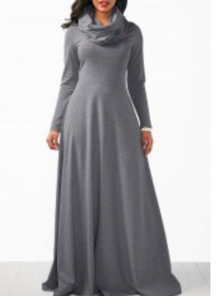 Long Maxi Dress with cowl neck