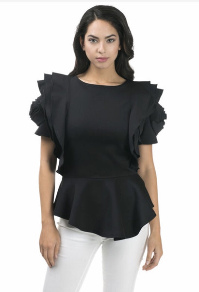 Sophistication Rose Shoulder Top