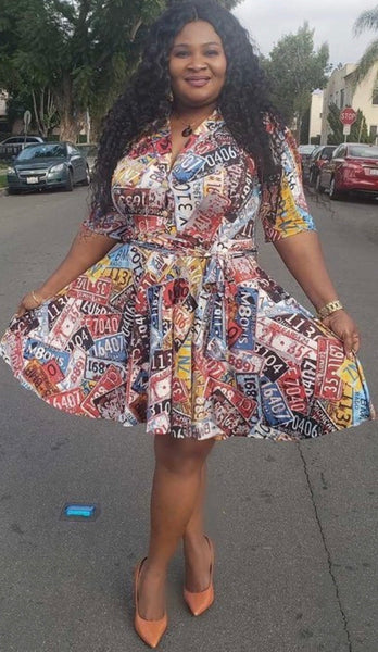 License Plate Dress