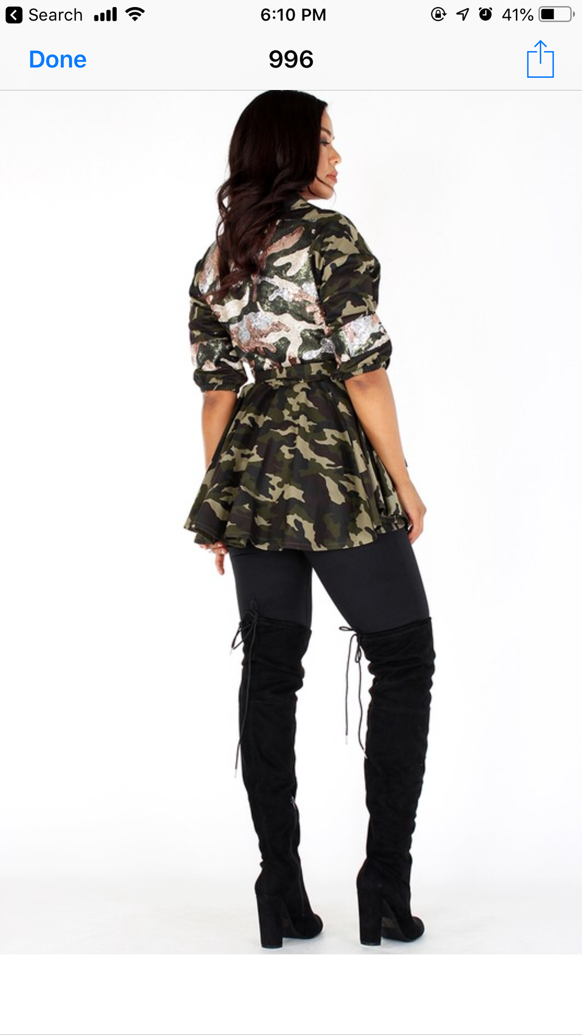Camo Sequin Jacket
