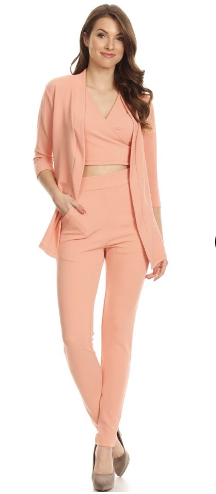 Just Peachy 3 piece pant set