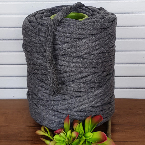 10mm Cotton Macrame String - Dark Grey