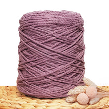 3mm Amethyst - Recycled Cotton 3ply Macrame Cord