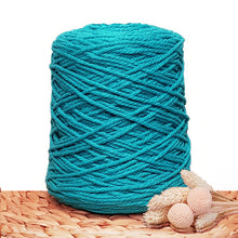 3mm Aquamarine - Recycled Cotton 3ply Macrame Cord