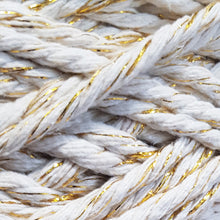 3mm Natural & Gold - Recycled Cotton 3ply Macrame Cord