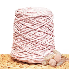 3mm Softest Pink - Recycled Cotton 3ply Macrame Cord