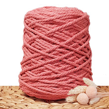 5mm Guava - 3ply Recycled Cotton Macrame Cord