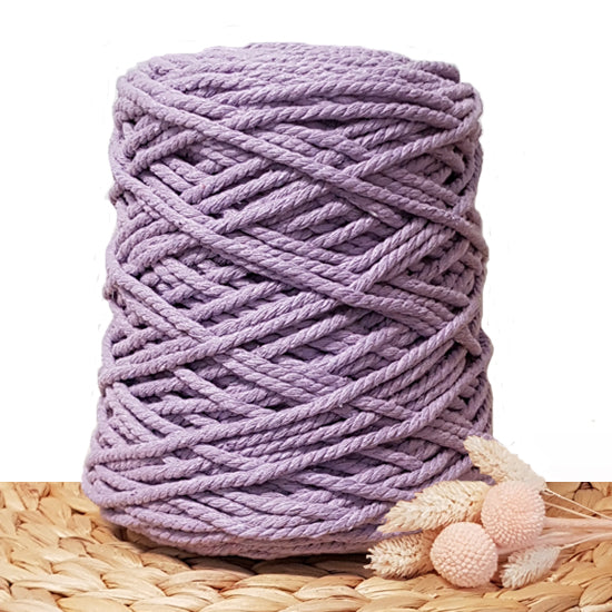 5mm Lavender - 3ply Recycled Cotton Macrame Cord