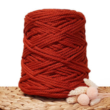5mm Rust - 3ply Recycled Cotton Macrame Cord