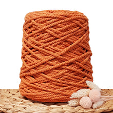 5mm Saffron - 3ply Recycled Cotton Macrame Cord