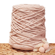 5mm Soft Peach - 3ply Recycled Cotton Macrame Cord