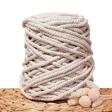 9mm Natural - 3ply Recycled Cotton Macrame Cord