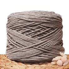 5mm Mink - 3ply Recycled Cotton Macrame Cord