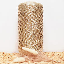 2mm Gold Metallic Shimmer String